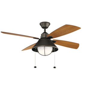 Seaside Olde Bronze LED Ceiling Fan