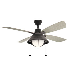 Seaside Weathered Zinc LED Ceiling Fan
