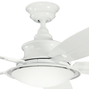 Cameron White 52-Inch LED Ceiling Fan