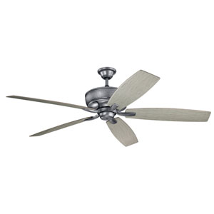 Monarch Weathered Steel Powder Coat Ceiling Fan