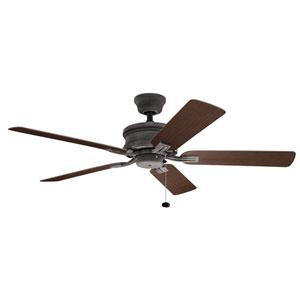 Tess Weathered Zinc Ceiling Fan