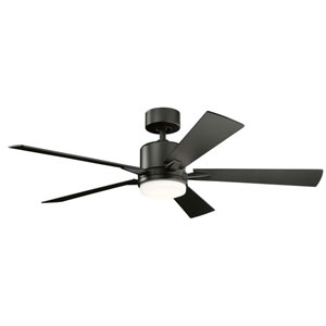 Lucian Satin Black 52-Inch One-Light LED Ceiling Fan