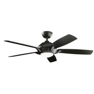Geno Satin Black 54-Inch LED Ceiling Fan