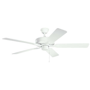 Basics Pro Matte White 52-Inch Patio Ceiling Fan