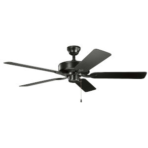 Basics Pro Satin Black 52-Inch Patio Ceiling Fan