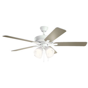 Basics Pro Premier Matte White 52-Inch Ceiling Fan