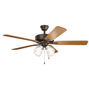Basics Pro Premier Satin Natural Bronze 52-Inch Four-Light Ceiling Fan