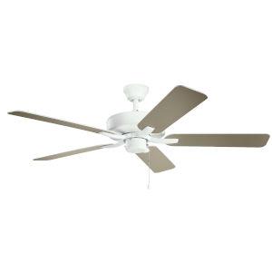 Basics Pro Matte White 52-Inch Ceiling Fan