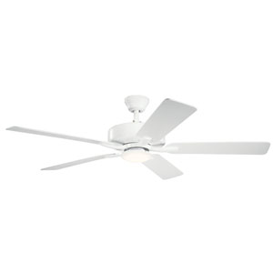 Basics Pro Designer Matte White 52-Inch LED Ceiling Fan