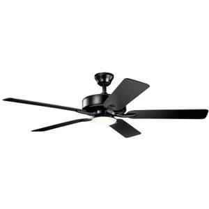 Basics Pro Designer Satin Black 52-Inch LED Ceiling Fan
