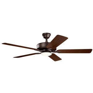 Basics Pro Designer Satin Natural Bronze 52-Inch LED Ceiling Fan