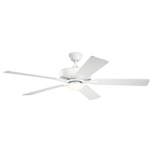 Basics Pro Designer White 52-Inch LED Ceiling Fan