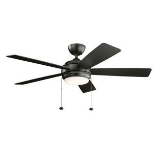 Starkk Satin Black 52-Inch LED Ceiling Fan