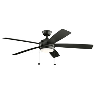 Starkk Satin Black 60-Inch LED Ceiling Fan