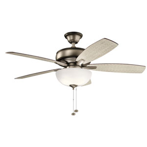 Terra Select Burnished Antique Pewter 52-Inch Three-Light LED Ceiling Fan