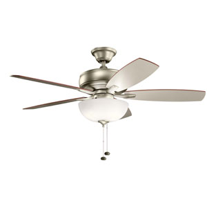 Terra Select Brushed Nickel 52-Inch Three-Light LED Ceiling Fan