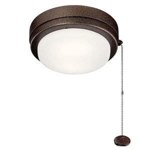 Arkwet Weathered Copper Powder Coat LED 7-Inch Ceiling Fan Light Kit