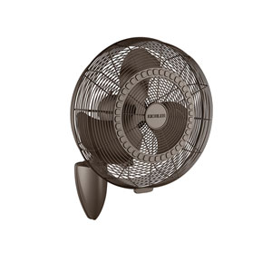 Pola Satin Natural Bronze 18-Inch Wall Fan
