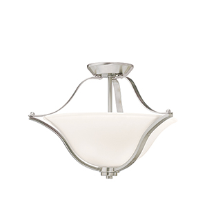 Langford Brushed Nickel Two-Light Energy Star LED Semi-Flush Mount