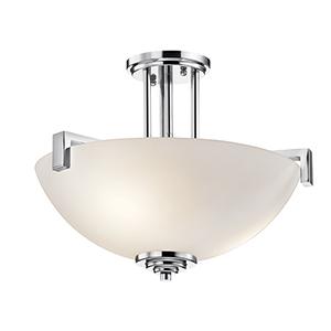 Eileen Chrome Three-Light Energy Star LED Semi-Flush Mount