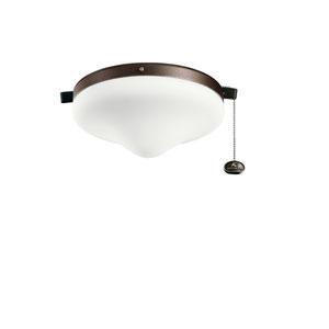 Tannery Bronze Powder Coat Two-Light Fan Light Kit