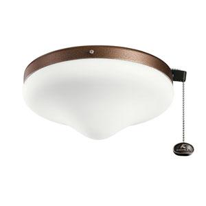 Weathered Copper Powder Coat Two-Light Fan Light Kit