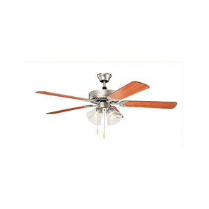 Basics Brushed Nickel Four-Light 52-Inch Ceiling Fan