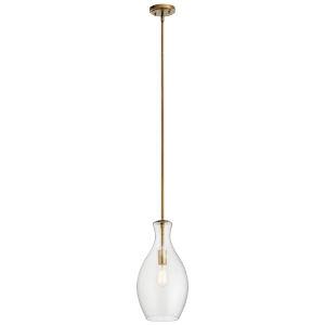 Everly Natural Brass Nine-Inch One-Light Mini Pendant
