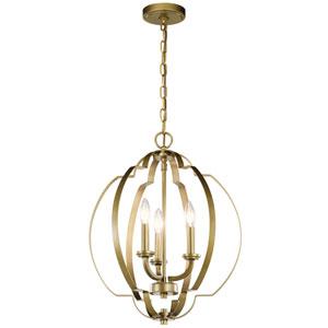 Voleta Natural Brass Three-Light Pendant