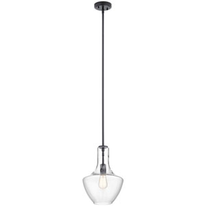Everly Black 15-Inch One-Light Pendant