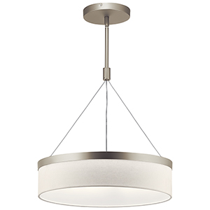 Mercel Satin Nickel Three-Light Pendant