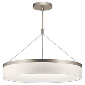 Mercel Satin Nickel Three-Light 26-Inch Chandelier