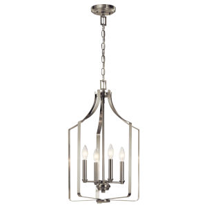 Morrigan Brushed Nickel 15-Inch Four-Light Chandelier