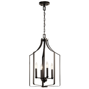 Morrigan Olde Bronze 15-Inch Four-Light Chandelier