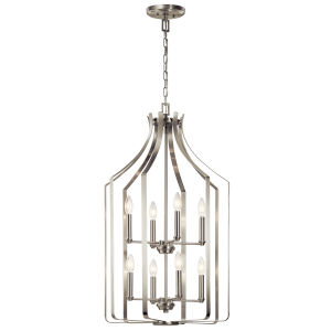 Morrigan Brushed Nickel 19-Inch Eight-Light Chandelier