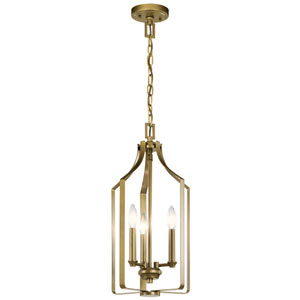Morrigan Natural Brass Three-Light Pendant
