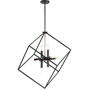 Cartone Black Eight-Light Chandelier