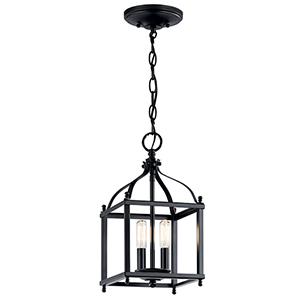 Larkin Black Two-Light Mini Pendant