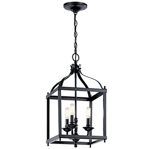 Larkin Black Three-Light Pendant