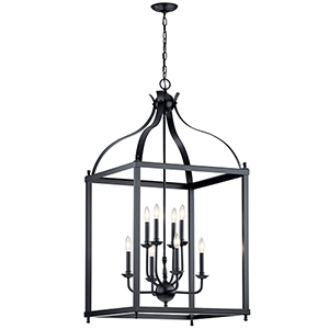 Larkin Black Eight-Light Chandelier