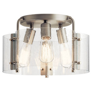Thoreau Brushed Nickel 14-Inch Three-Light Flush Mount