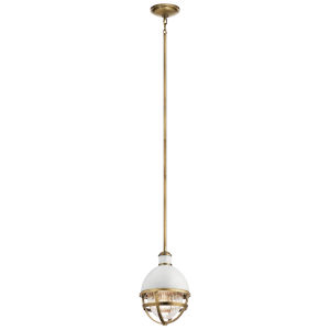 Tollis Natural Brass Eight-Inch One-Light Mini Pendant