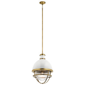 Tollis Natural Brass 16-Inch One-Light Pendant
