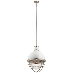 Tollis Brushed Nickel 16-Inch One-Light Pendant