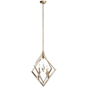 Layan Polished Nickel Four-Light Chandelier