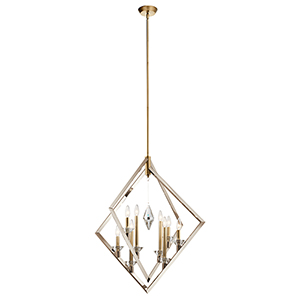 Layan Polished Nickel Eight-Light Chandelier