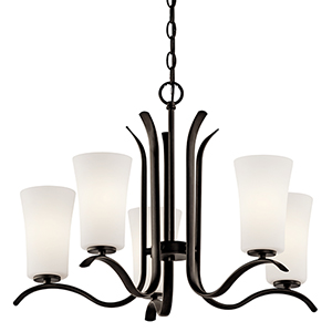 Armida Olde Bronze Five-Light Energy Star LED Chandelier