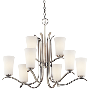 Armida Brushed Nickel Nine-Light Energy Star LED Chandelier