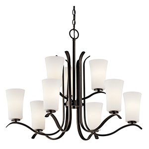 Armida Olde Bronze Nine-Light Energy Star LED Chandelier