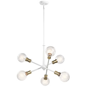 Armstrong White Six-Light Chandelier